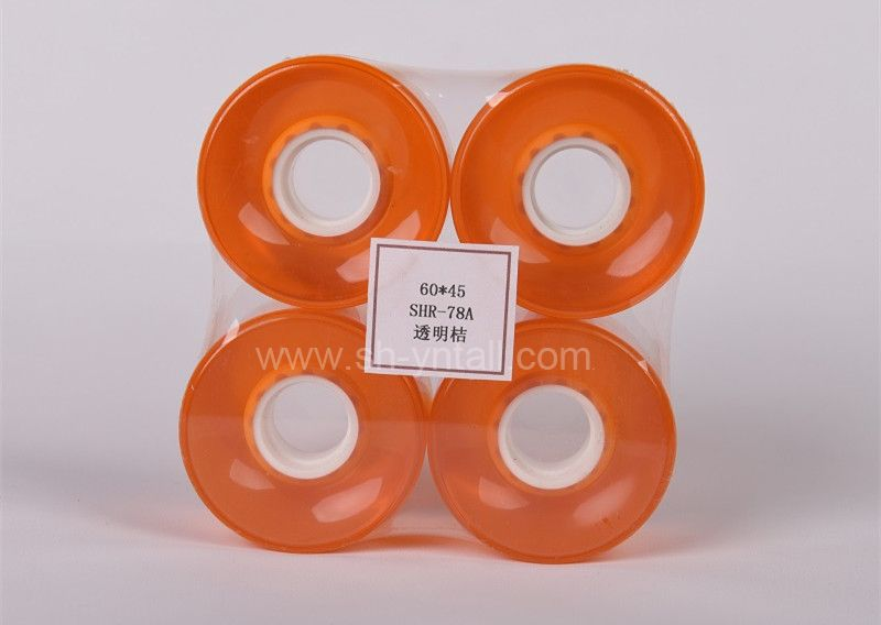 pu wheels for skate board 60*45 transparent orange
